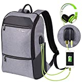Laptop Backpack for Men & Women with Waterproof, Travel/School Backpack with USB Charging