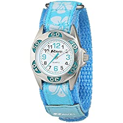 Ravel Girl's Baby Blue Starp Watch