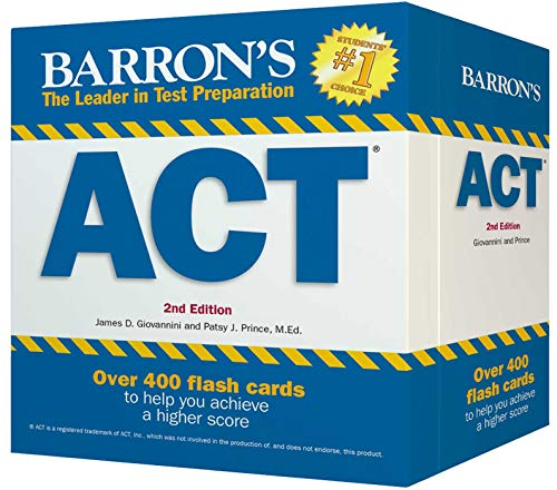 Barron's ACT Flash Cards: 410 Flash Cards to Help You Achieve a Higher Score (Barron's Test Prep) - Barron Act-test