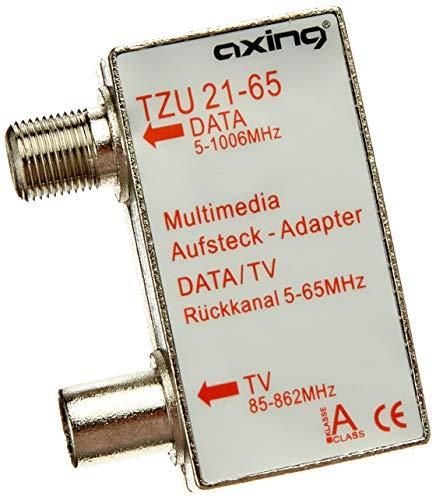 Axing TZU 21-65 Multimedia-Aufsteckadapter Verteiler für Kabelmodem und TV - Modem Für Tv