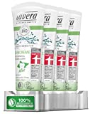 lavera basis sensitiv Zahncreme Mint, 4er Pack (4...