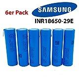 Samsung inr18650–29e Batterie–2900mAh 3,7V 3C 18650avec cosses à souder lötfaden Cellule–1/2/3/4/6/10. Idéal pour chicha électronique, cigarette électronique, RC modèle de Construction et Power Tool.