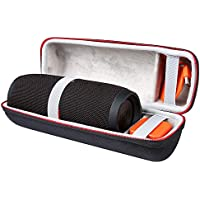 Shucase Tasche für JBL Charge 3 Tragbarer Bluetooth Lautsprecher Robustes Anti-Schock wetterfestes Material für USB-Kabel und Ladegerät(Schwarz)