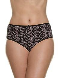 Ulla Popken Femme Grandes tailles Slip - Uni - Femme - Lot de 5 culottes - Coton 708953
