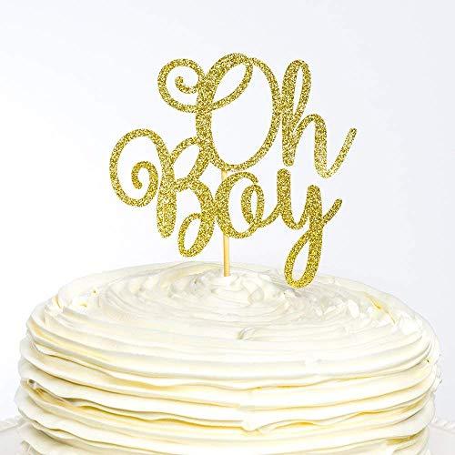 Lustige Tortenaufsatz für Hochzeit Oh Boy Oh Boy Topper Babyparty Baby Boy Kuchen Geschlecht Enthüllt Babyparty Name Hochzeit Geschenke für Party Gastgeschenk Dekoration
