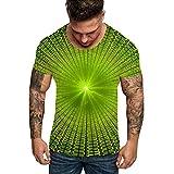 serliyHerren 3D Bedruckte T-Shirt Rundhals Kurzarm Sommer T-Shirt Tops Freizeit Hemd Sommerhemd für Moderner Männer T-Shirt Kurzarmhemd Kurzarm Bluse Freizeit Hemd