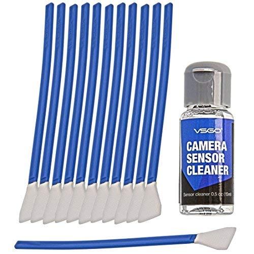 VSGO Kamera Sensor Reinigungs Kit, 6 bis 12 Sensor Reinigungen möglich, 12x Reinigungs Swab 12mm breit