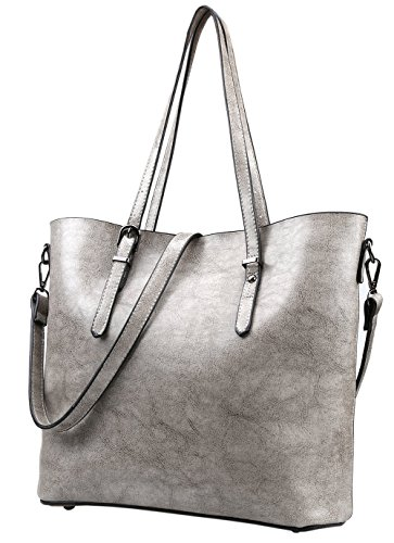 Magic Zone , Damen Tote-Tasche grau grau (Large Quilted Tote Handtasche)
