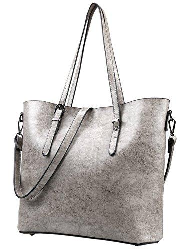 Magic Zone , Damen Tote-Tasche grau grau (Large Tote Quilted Handtasche)