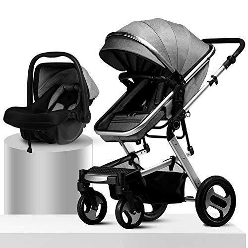 DLYGH Productos para bebés Cochecito de bebé, 3-en-1 Convertible Cuna reclinado Cochecito, Cochecito...