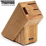 Thomas Rosenthal Group® Messerblock Holz unbestückt Messerhalter 3 Messer Schere Holz Block