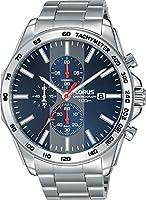 Lorus Reloj de Hombre Cuarzo 45mm Correa y Caja de Acero dial Azul RM383EX9