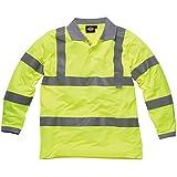 Dickies SA22077 - Camisas de polo de alta visibilidad - de manga larga amarilla xl,