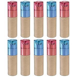 eBuyGB - Tubos con lápices de colorear, ideales como regalos en bodas y fiestas