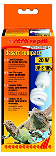 Sera 32022Reptil Desert Compact/20W (10% UV B) la luz Diurna lámpara para terrarios de Wüsten, favorece Salud, Crecimiento y Bienestar