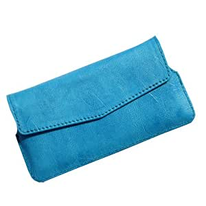 i-KitPit : PU Leather Pouch Case Cover For Lenovo A680 (SKY BLUE)