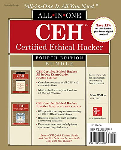 Ceh Certified Ethical Hacker Bundle por Matt Walker