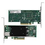Kafuty Netzwerkkarte PCI-E X8 10-Gbit/s-Gigabit-Adapter LAN-Karte 10-GBase-T-Adapter mit Zwei Ports 1000Base-T-Netzwerk für Desktop-Computer/Gaming für Intel X540-T1