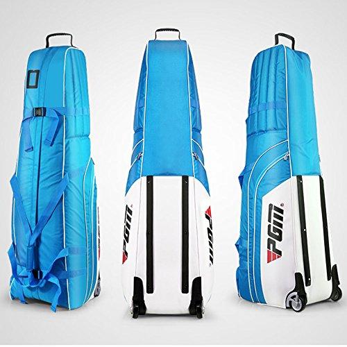 Housse de sac de voyage à roues rembourrée et pliable, avec un petit sac de rangement - PGM