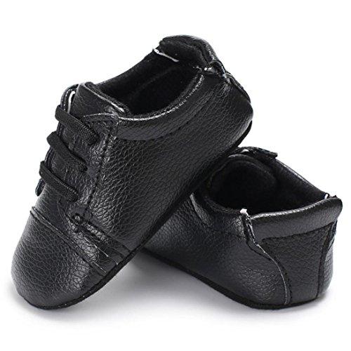 Chaussures bébé,Xinan Chaussures Fille Cuir Souple Chaussures premiers pas Dessin Animé 0-18Mois 6 Couleurs