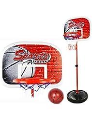 Finer Shop 50-147cm Niños del Deporte del Baloncesto Portátil Tablero de Baloncesto Stand 4-Sección Altura Ajustable con el Índice de Inflación