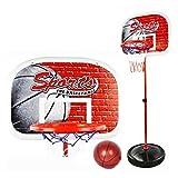 YAKOK Basketballkorb Kinder, 50-147CM Mini Basketballkorb Kinder mit Ständer Netz Basketballkorb Set für Kinder Kleinkinder 3-7 Jahre