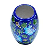#5: Shriyam Craft Blue Pottery Decorative Flower Vase ( 6 inch )