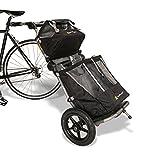 Burley Travoy Fahrrad Lastenanhänger und Einkaufs-Trolley (inkl. Kupplung) - Set mit schwarzen Einkaufstaschen