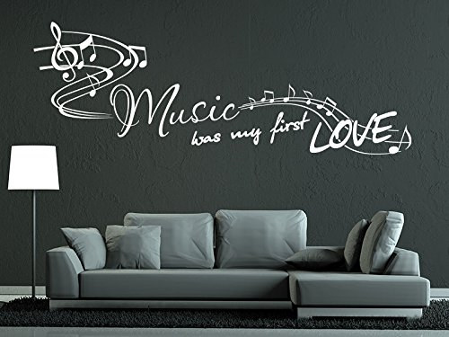 (KLEBEHELD® Wandtattoo Music was my first love.)