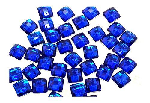 Quadratische Form folienbeschichtete® Sew oder Klebstoff auf Kunstharz Kristalle, flache Rückseite Gems für ()