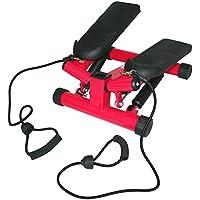 Preisvergleich für Stepper Fitness Heimtrainer Drehstepper Sidestepper Computer LCD S3032 RED HMS
