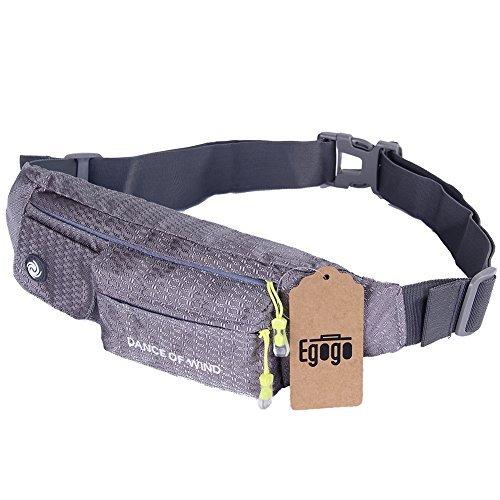 EGOGO Slim Soft Water Resistant Bauchtasche Tasche Pack Sling Pack Brust Gürteltasche für Mann-Frauen im freien laufen, Radfahren, Klettern mit Iphone 5 6 Plus Samsung S5 S6 (Slim Brust)