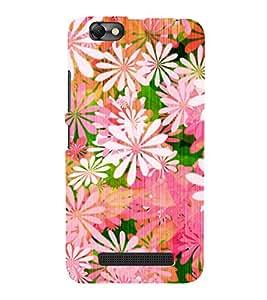 Floral Painting 3D Hard Polycarbonate Designer Back Case Cover for Lenovo Vibe C