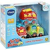 Vtech Tut Tut Bolides - 80-205805 - Coffret Trio Pompiers : LEO + GAETAN + BARNABE