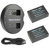 Newmowa LP-E17 Batería de repuesto (2-Pack) y Kit de Cargador Doble para Micro USB portátil para Canon EOS M3 750D 760D Rebel T6i T6s 8000D Kiss X8i Cámara
