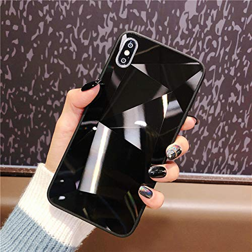 SHFIVES Bright Diamond Case für iPhone 7 Hülle 3D Hardcover für iPhone XS Max XR 6 6S 8 Plus 7 Plus Hülle iPhone 8 Hülle, schwarz, für iPhone 8 Plus