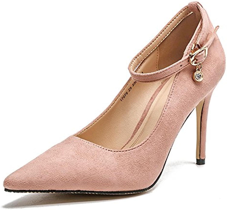 2d70fc4f4de68b Chaussures Talon Femme Mode Escarpin Pointu Boucle Bride Cheville Pumps  Pumps Pumps Travail Bout Fermé Respitant Rose 38B0796SXX4VParent |  Belle ...
