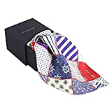 Chokore Blue & Red Pocket Square Silk Ma...