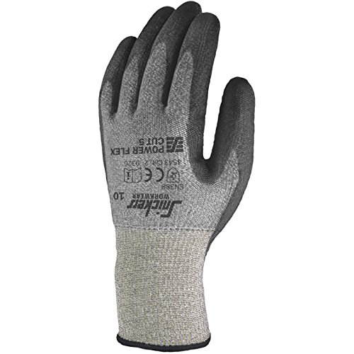 snickers-93264804007-power-flex-cut-5-guantes-talla-7-negro-gris