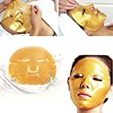 Boolavard 5pcs Maschere d'oro di Cristallo del Collageno Anti Invecchiamento Cura Della Pelle Maschera per il Viso immagine