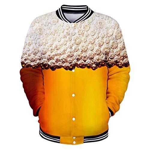 Sommer Blusen Strand Tops Männer Casual Langarm Bier Festival New Style 3D Druck Sport Shirt -