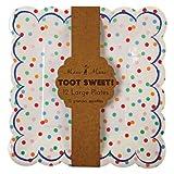 Pappteller bunte Punkte aus der Serie 'Toot Sweet Spotty' von Meri Meri