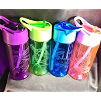 PERSONALISED, ENGRAVED SPORTS WATER DRINKS BOTTLE BPA FREE - BLUE, PINK, PURPLE, GREEN ANY DESIGN ANIMAL CHARACTER, CLASS, UNICORN BUTTERFLY CAR DINOSAUR WATER, JUICE, STRAW FLIP TOP, PLASTIC, BACK TO SCHOOL, NAME NURSERY CHILD KID CHILDRENS