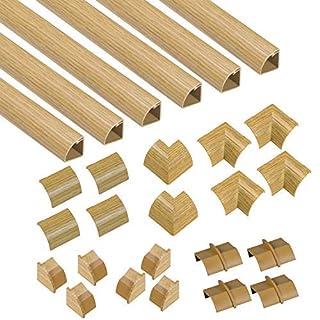 D-Line Quadrant Trunking Multipack | Popular Floor Trim Alternative | 6 x 2 Meter Lengths Per Pack - Light Oak-Effect