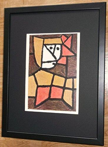 (Paul Klee Kunstdruck, gerahmt, 30,5x 40,6cm Rahmen, Frau in Native Kostüm von Paul Klee)