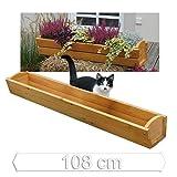 Jardinière pour rebord de fenêtre / Balconnière longueur 108 cm en bois de mélèze de Gartenpirat®