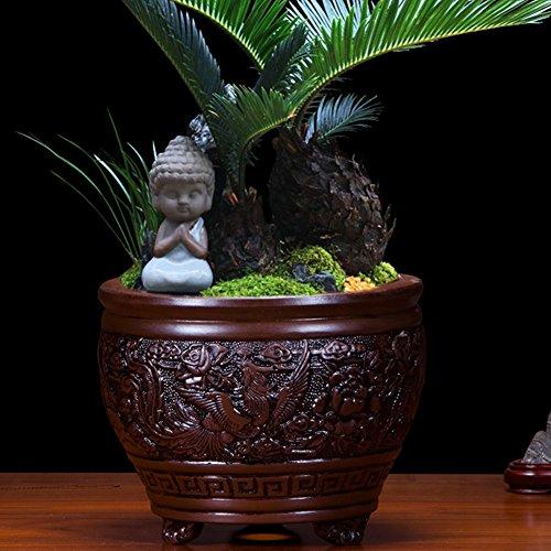 Nclon Dekorative Design Keramikplatten Pflanze Blume Pflanzer Töpfe,Geeignet Für Dekoration In Die...