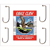 Eagle Claw 570M-4/0 90 Degree Round Bend Jig, Bronze Finish