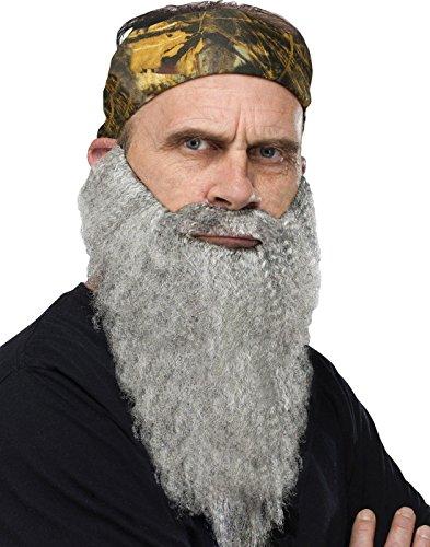 ty Bandana And Beard Grey Adult (Duck Dynasty-halloween-kostüme)