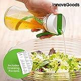 GKA Dressingmixer mit Rezeptbuch Mixer Shaker Salat Saucen Zubereiter Dressing-Shaker